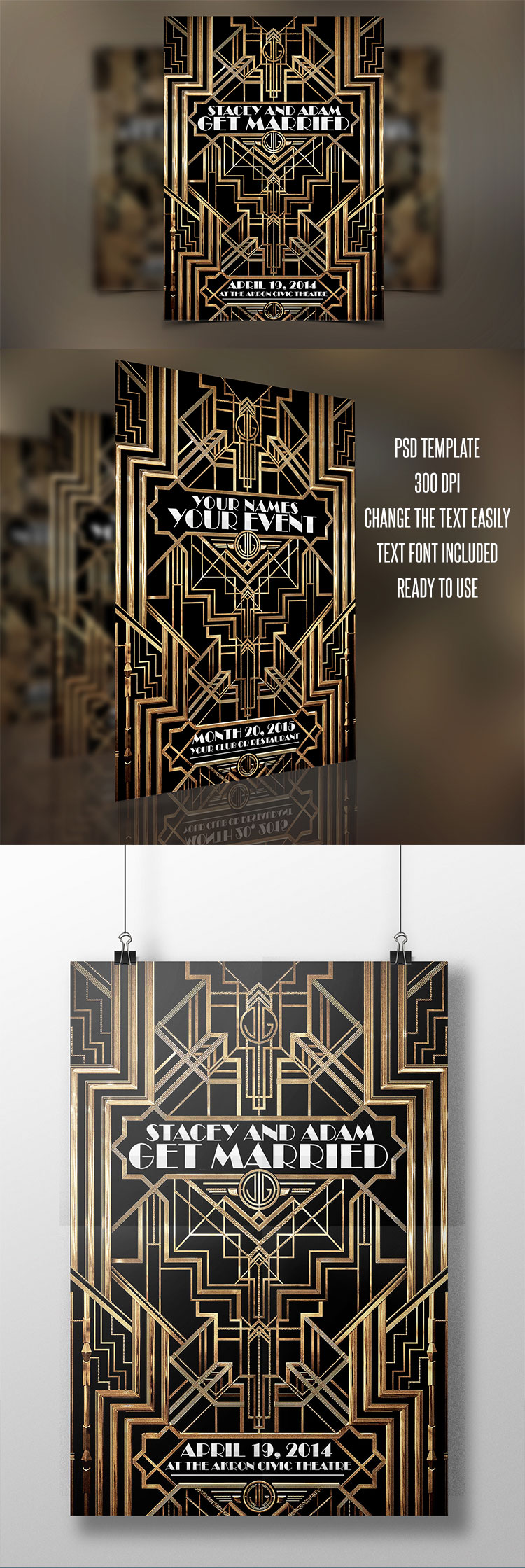 The Great Gatsby Flyer Template PSD