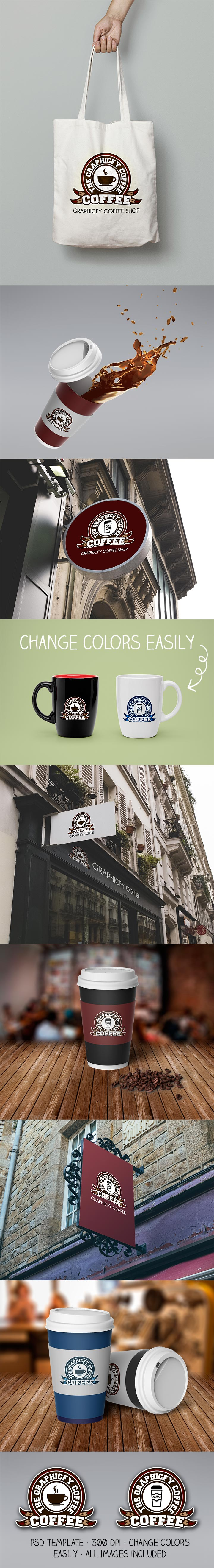 Coffe Logo PSD Template