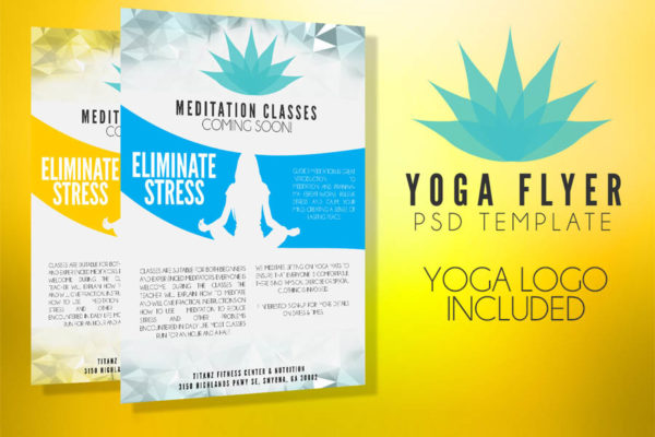 Yoga Flyer Template PSD
