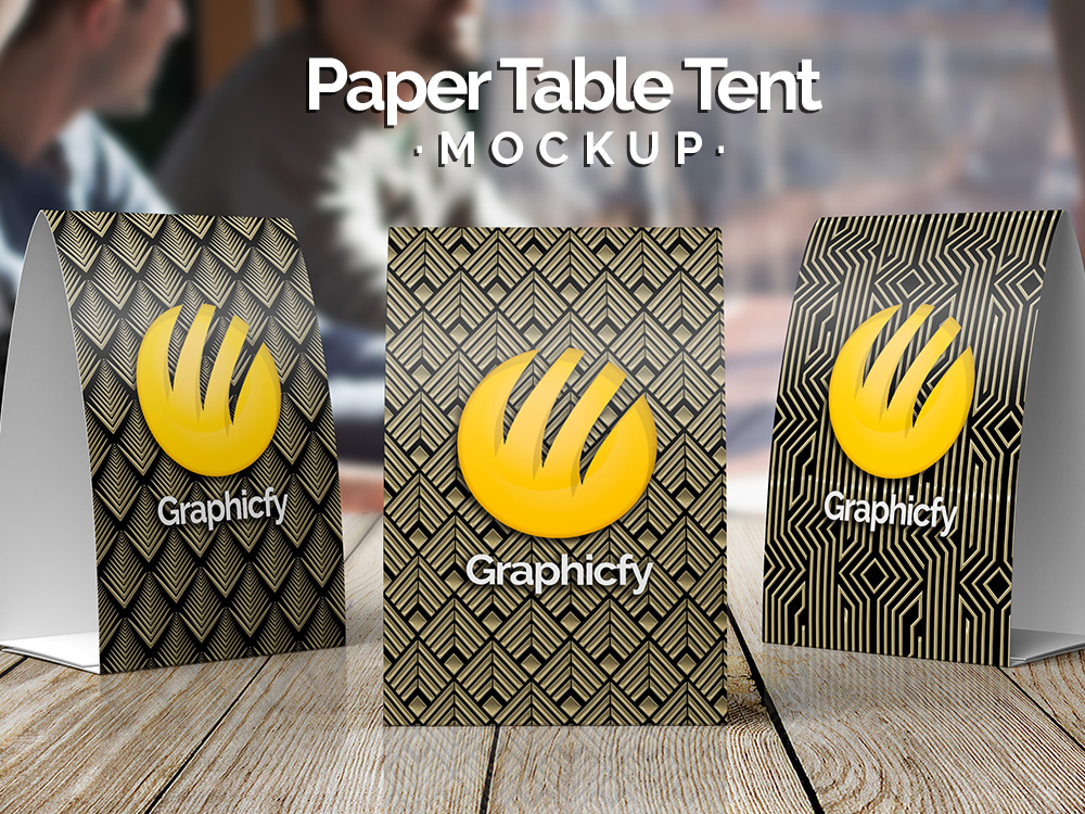 Paper Table Tent Mock up