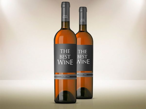 Wine Bottle Mock up Template