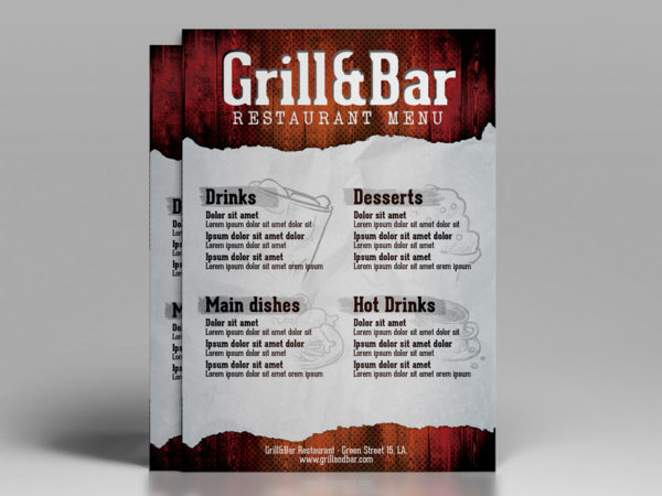 Restaurant Flyer Template PSD