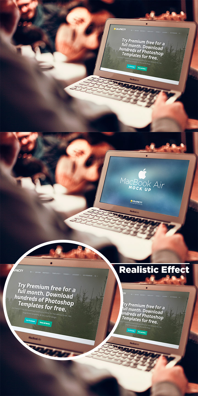 Macbook air mock up