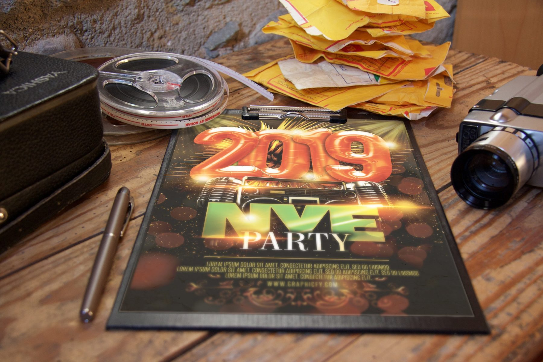 New Years Eve Celebration Flyer Template