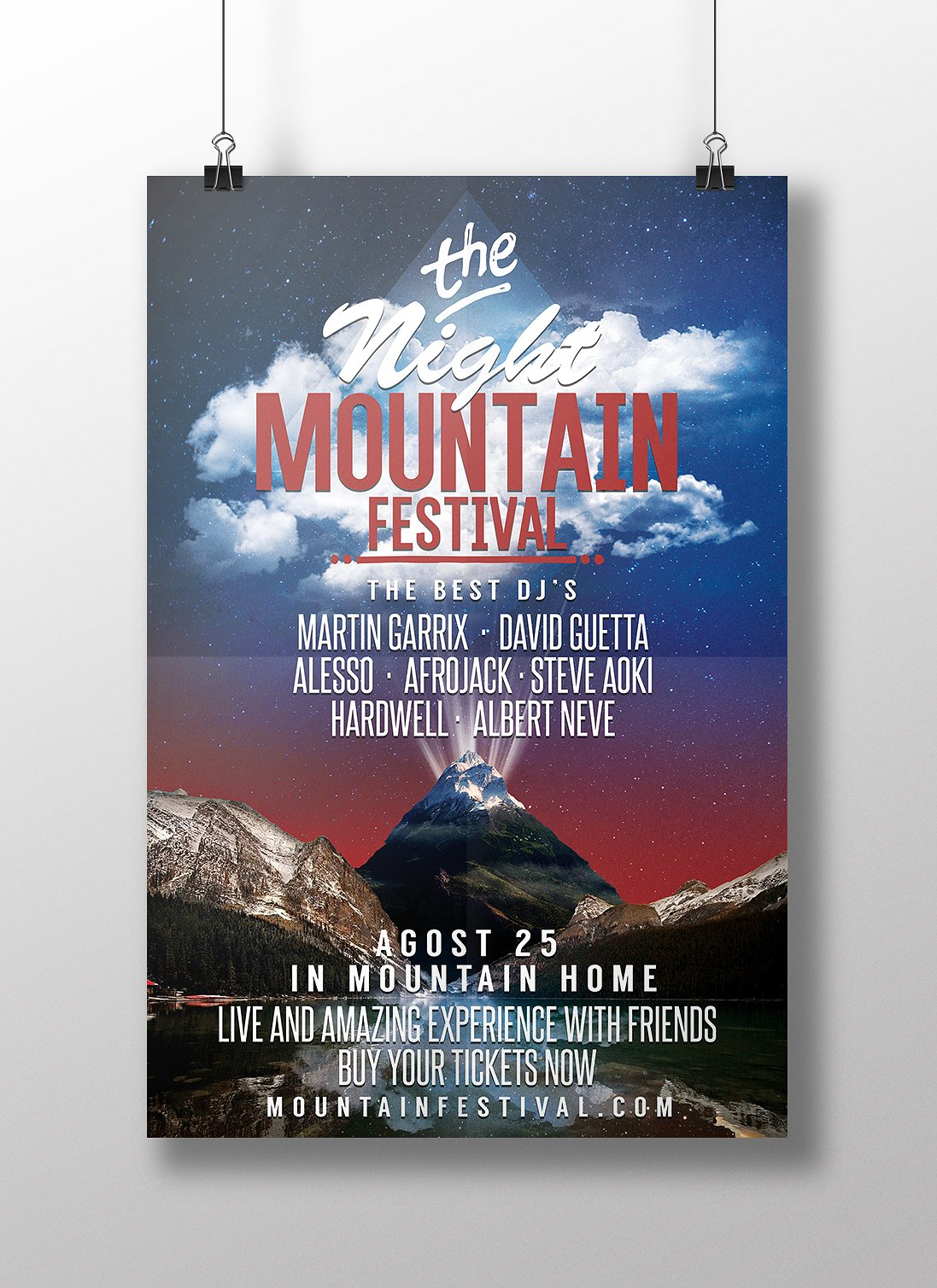 Mountain Festival Party Flyer