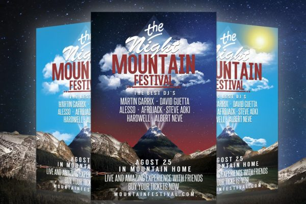 Mountain Festival Party Flyer