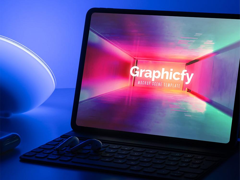 New-iPad-Pro-Dark-Mockup-Template