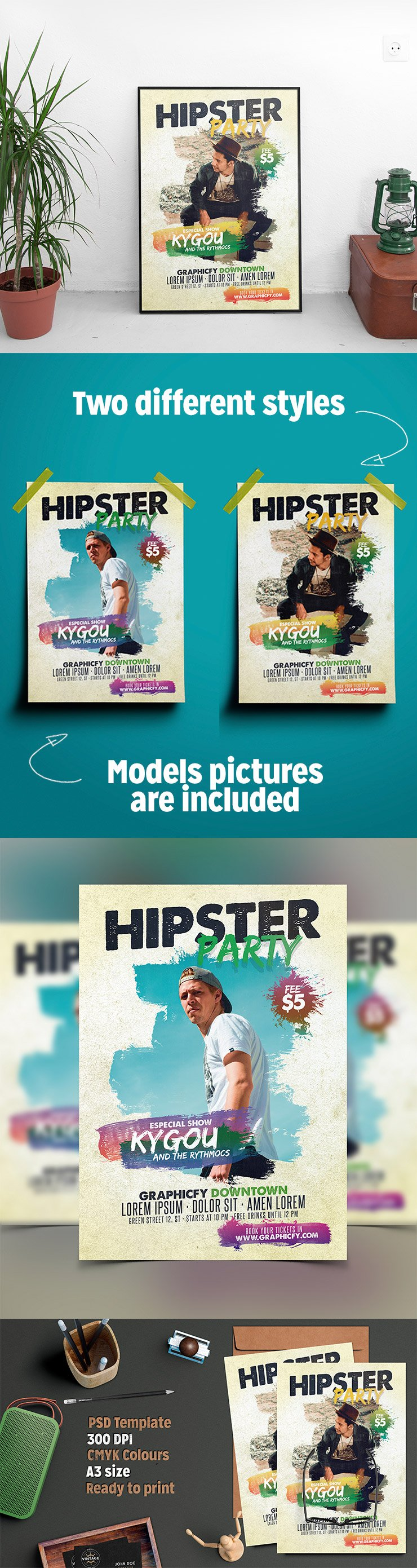 Hipster Flyer Template