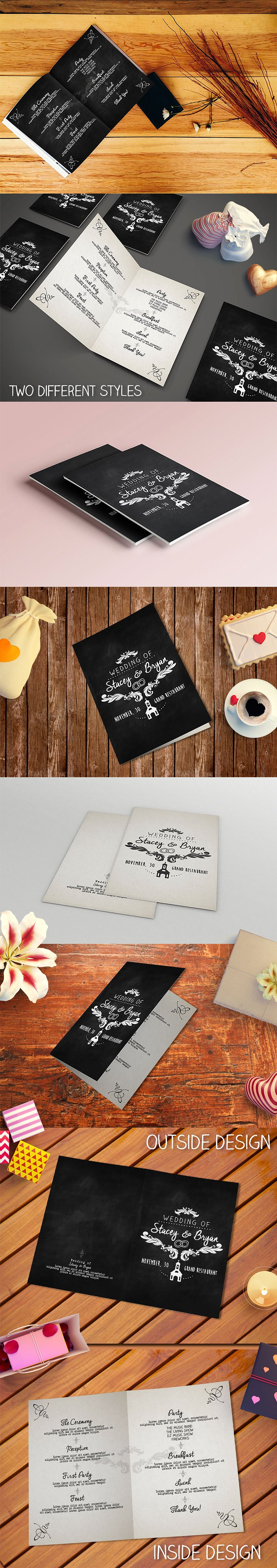 Wedding-Program-Vintage-2-sides-PSD