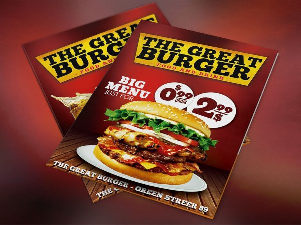Burger Menu Template PSD