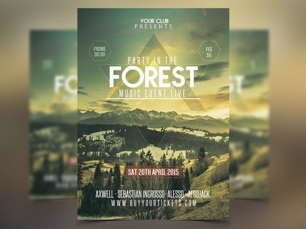 forest flyer template