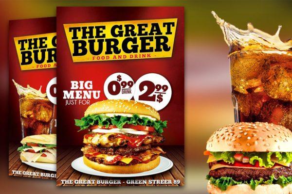 Burger Fast Food Flyer Restaurant