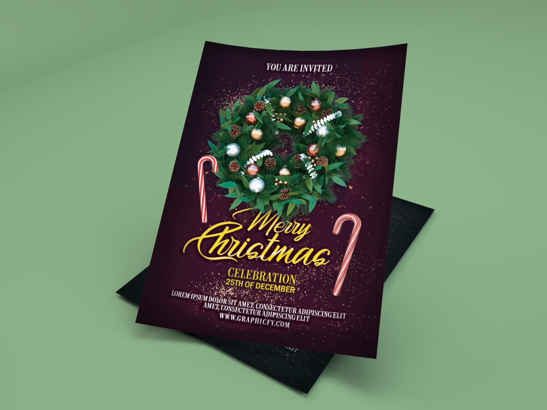 Christmas Celebration Flyer Template
