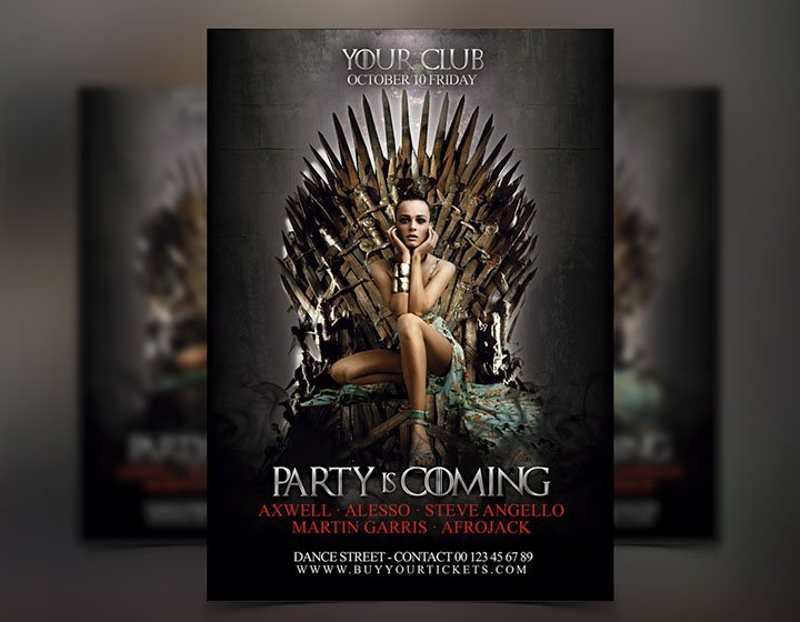 Game of Thrones Flyer Template