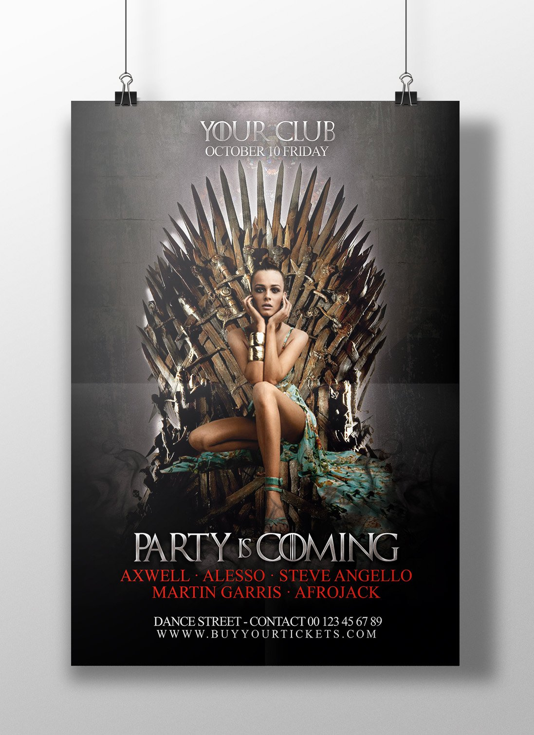 Game of Thrones Flyer Template PSD