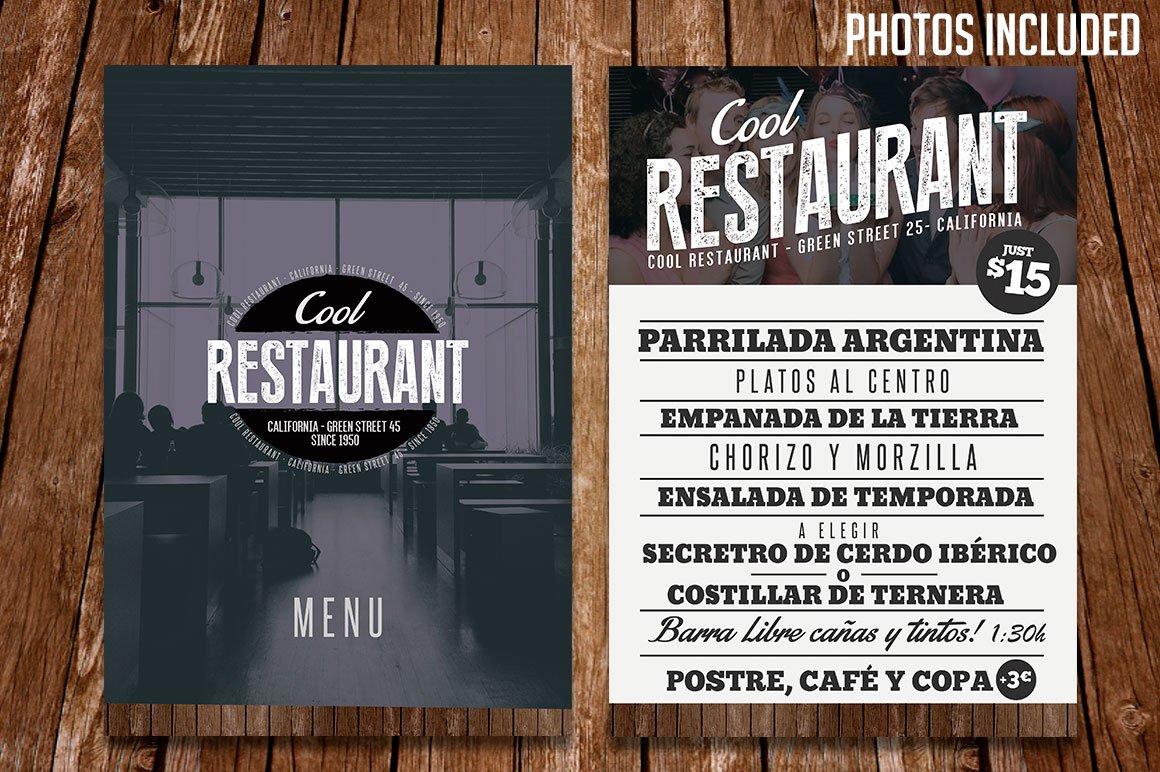Restaurant Menu Template PSD