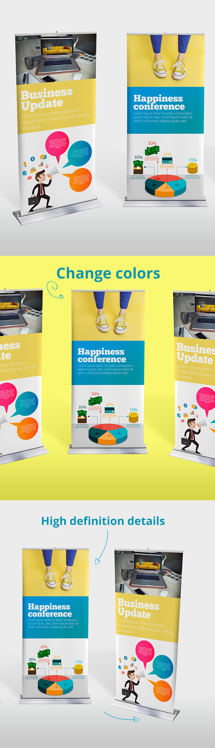 Roll-Up Banner Mockup Template