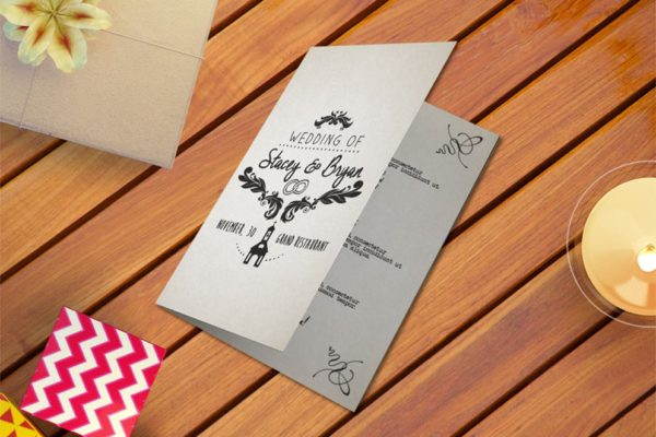 Wedding Program Vintage Invitation