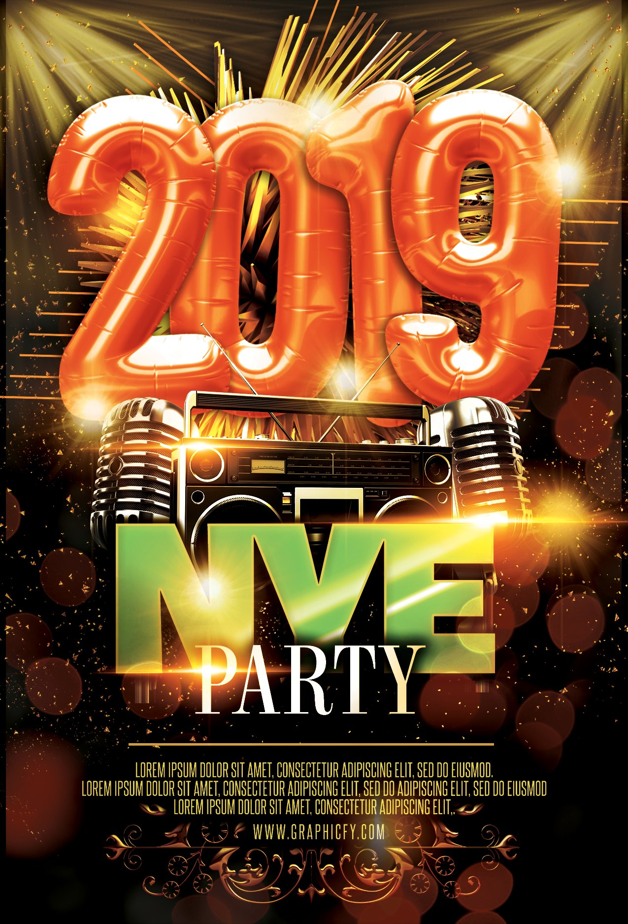 New Year?s Eve Flyer 2019