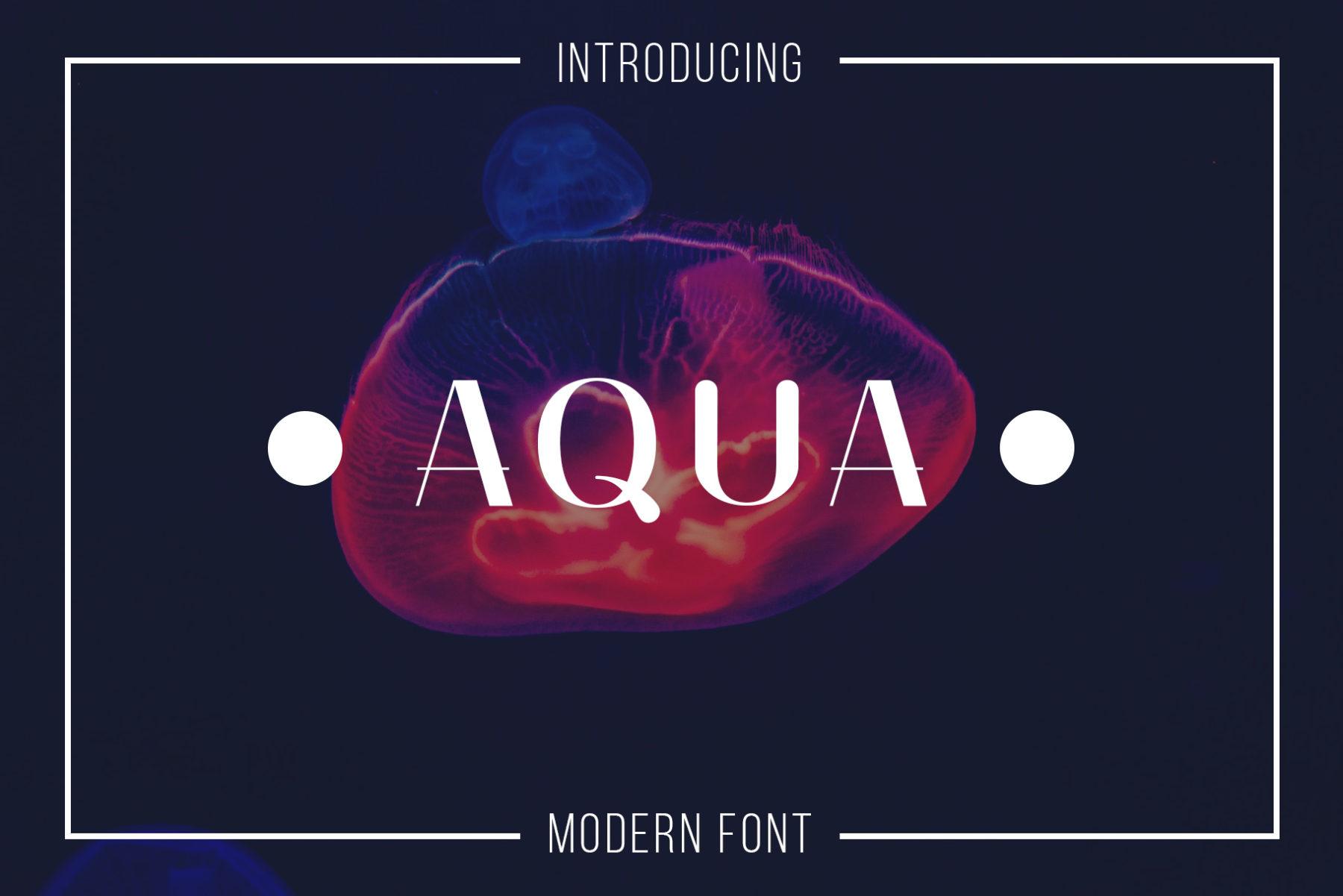 Aqua Modern Font - Serif Font