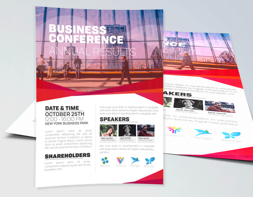 Business Conference Flyer Template PSD