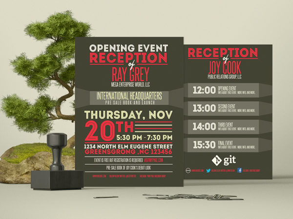 Event Program Template PSD