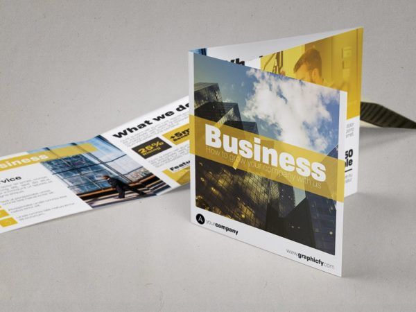 Square Tri Fold Brochure Template