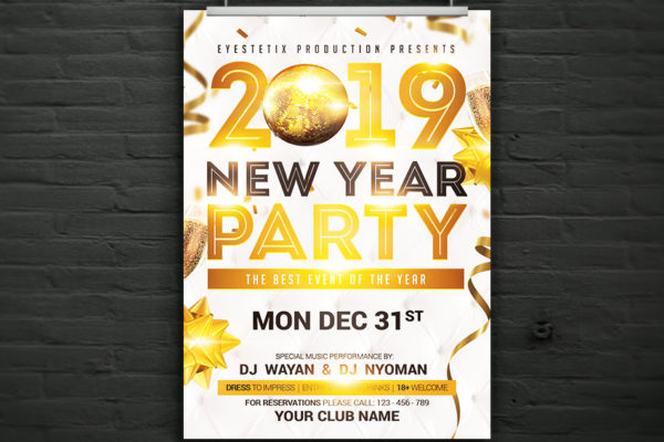 2019 New Year's Eve Party Flyer